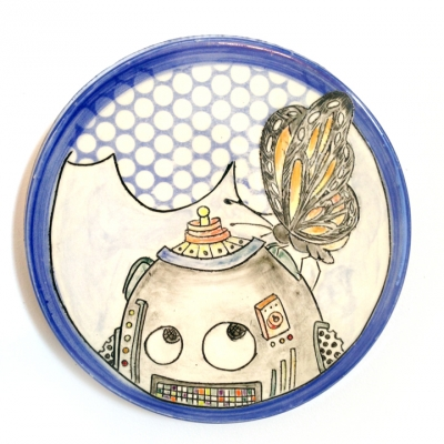 Robot and Butterfly Plaque